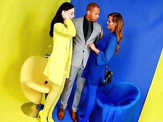 Whitney Wright, Aila Donovan And Tammy Tyler In Yellow Vs Blue And