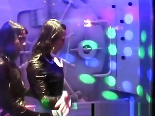 Sexy Sapphic Superstars Fuck In A Club