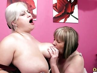 Oldnanny Big Titted Matures Lezzies Eating Cooter
