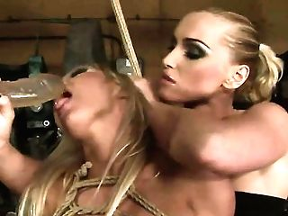 Blonde Kitty Adriana Russo With Big Knockers Is On The Way To The Height Of Pleasure With Kathia Nobilis Tongue In Her Thicket
