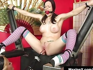 Hot Asian Starlet Maxine X Trusses & Machines Janessa Jordan!