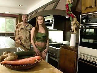 Sexy Soldier Abigail Mac Is Fucked Hard By One Bald Headed Stud