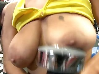Delicious Jasmine Training Her Memorable Tits In A Gym