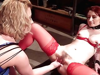 Ginger-haired Cooter And Culo Banged Lesbo Domination