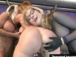 Cougar Deauxma Whipped In Box & On Cross By Nina & Sally!