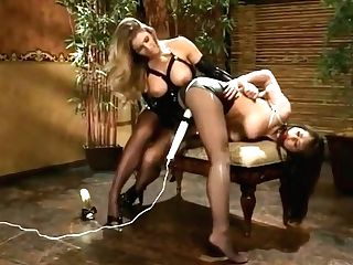 Spandex Lesbos Restrain Bondage Magic Wand Orgasm