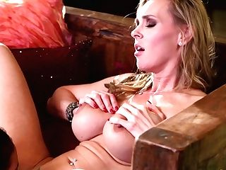 Blonde Adriana Luna Does Lewd Things With Tanya Tate In Lezzie Act